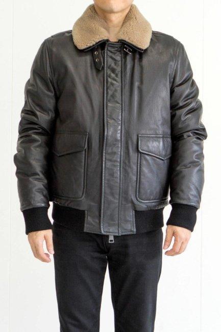 [:en]Sheep Skin Bomber Jacket With Shealing Collar[:ja]シープジャケット[:]